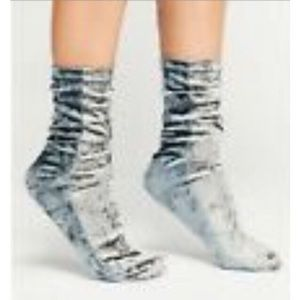 NWT Free People Silver Color Block Velvet Sox